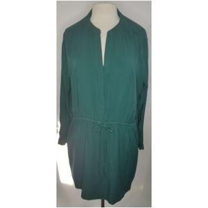 💋 GAP emerald green plus size tunic